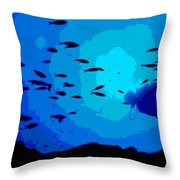 Scuba Dive Throw Pillow
