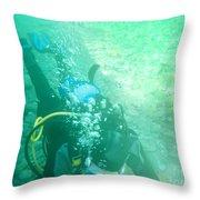 Scuba Diving Throw Pillow