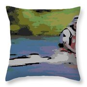 Sculling For The Win Throw Pillow