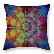 Sculpted Flower Throw Pillow