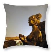 Sculpture Of A Woman Throw Pillow