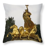 Sculpture Of Columbia Triumphant  Throw Pillow