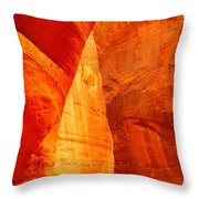 Sculptured By The Wind Throw Pillow
