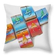 Sea Boxes Throw Pillow