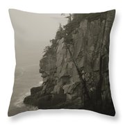 Sea Cliff At Quoddy Head  Throw Pillow