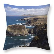 Sea Cliffs And Coastline Near Erris Throw Pillow