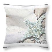Sea Foam In Pastels Throw Pillow
