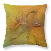 Sea Grass Sunset Throw Pillow by Betsy Knapp