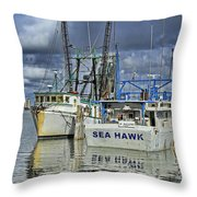 Sea Hawk Under Cover Throw Pillow