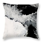 Sea Ice In The Southern Ocean Throw Pillow