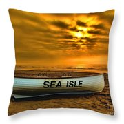 Sea Isle Dawn Throw Pillow