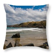 Sea Landscape With Bay Beach Throw Pillow