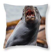 Sea Lion Agony Throw Pillow