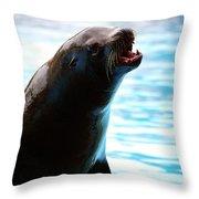 Sea-lion Throw Pillow