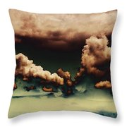 Sea Of Green Throw Pillow