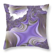 Sea Of Lavender Throw Pillow