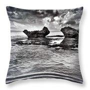 Sea Ripples Throw Pillow