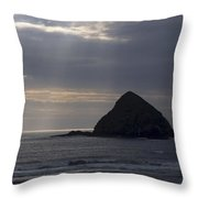 Sea Stack On The Oregon Coast Throw Pillow