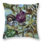 Sea Treasure - Square Format Throw Pillow