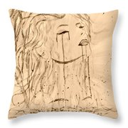 Sea Woman 2 Throw Pillow