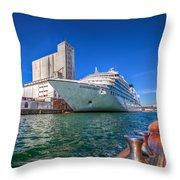 Seabourn Sojourn In Copenhagen. Throw Pillow