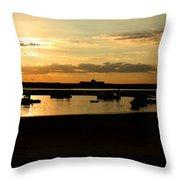 Seabrook At Sunset 1a Throw Pillow