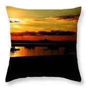 Seabrook At Sunset 1b Throw Pillow