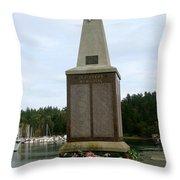 Seafarer's Memorial Throw Pillow
