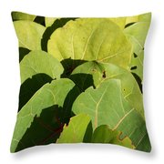 Seagrape Leaf Layer Throw Pillow