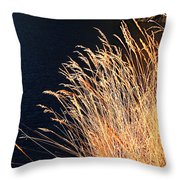 Seagrass In Gold Throw Pillow