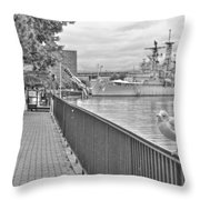 Seagull At The Naval And Military Park Throw Pillow