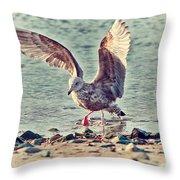 Seagull Flaps Throw Pillow