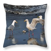 Seagulls Passion Throw Pillow