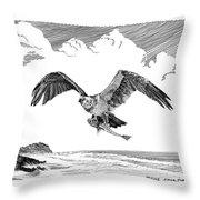Seahawk Dinnertime Throw Pillow