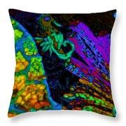 Seahorse Mosaic Throw Pillow
