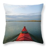 Seakayak Bow Parts The Rippled Water Throw Pillow