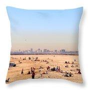 Seal Beach In January Throw Pillow