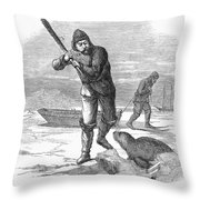 Seal Hunting, 1867 Throw Pillow
