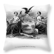 Seal Of New York, 1870 Throw Pillow