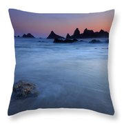 Seal Rock Dusk Throw Pillow