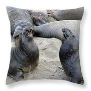 Seal Spa. Men's Talk2 Throw Pillow