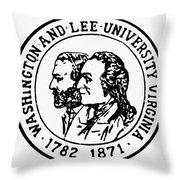 Seal: Washington & Lee Throw Pillow