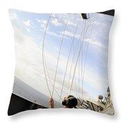 Seaman Raises The Foxtrot Flag Throw Pillow