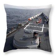 Seamen On The Forecastle Throw Pillow