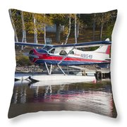 Seaplane On Moosehead Lake In Maine Canvas Photo Poster Print Throw Pillow