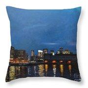 Seaport Boulevard Throw Pillow