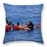 Search And Rescue Swimmers Retrieve Throw Pillow
