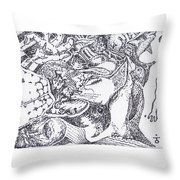Searchers And Swimmers Throw Pillow