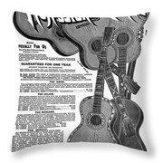 Sears Ad - Guitars 1902 Throw Pillow