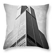 Sears-willis Tower Chicago Throw Pillow by Paul Velgos